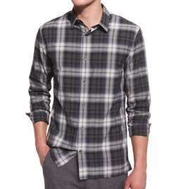 Plaid Linen-Blend Sport Shirt by Vince in Modern Family
