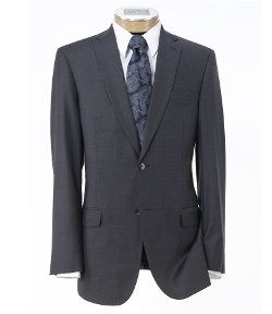Traveler Slim Fit 2-Button Suits by Jos. A. Bank in Blackhat
