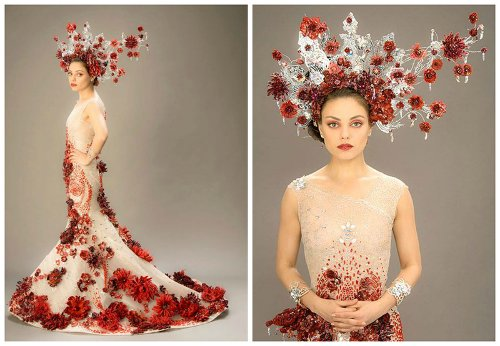 Custom Made Couture Dress by Michael Cinco (Fashion Designer) in Jupiter Ascending
