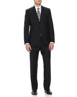 Two-Piece Italian Wool Suit, Navy by Neiman Marcus in Yves Saint Laurent