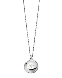 Little Astley Silver Locket Necklace by Astley Clarke in Pretty Little Liars