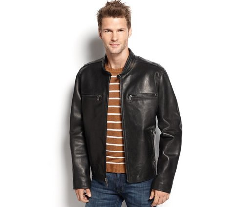 Lamar Leather Moto Jacket by Marc New York in Run All Night