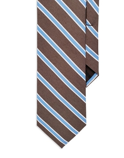 Striped Silk Tie by Black Brown 1826 in Max