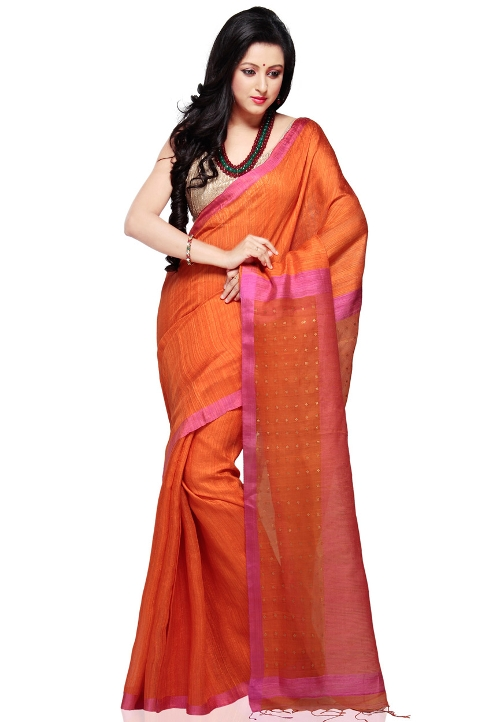 Pure Matka Silk Bengal Handloom Saree by Utsavfashion in The Second Best Exotic Marigold Hotel
