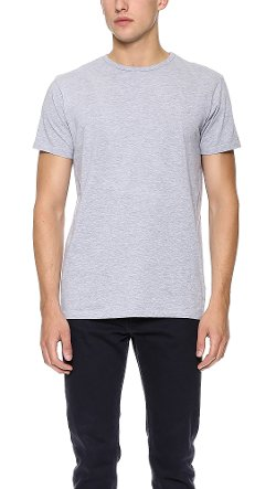 Crew Neck T-Shirt by Apolis in Black or White
