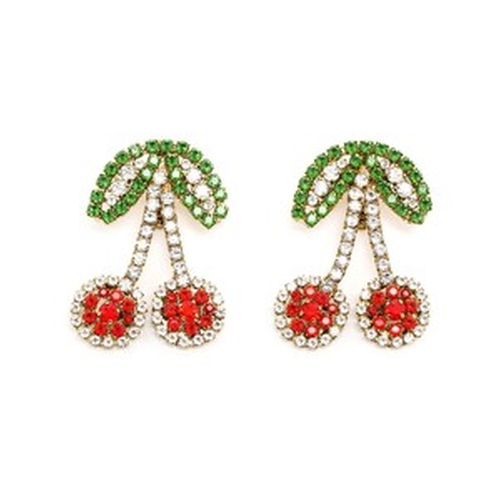 Cherry Clip-On Earrings by Shourouk in Scream Queens