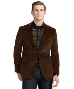 Fitzgerald Fit Relaxed Corduroy Sport Coat by Brooks Brothers in The Big Short