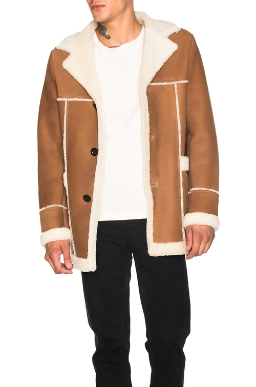 Shearling Coat by Loewe in King Arthur: Legend of the Sword