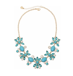 Stone and Crystal Statement Necklace by Monet Jewelry in The Boss