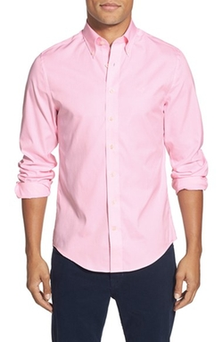 'The Pinpoint Oxford' Trim Fit Long Sleeve Sport Shirt by Gant in Valentine's Day