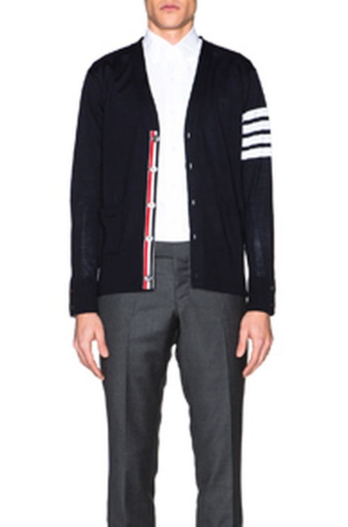Stripe Merino Wool Cardigan by Thom Browne in The Boss