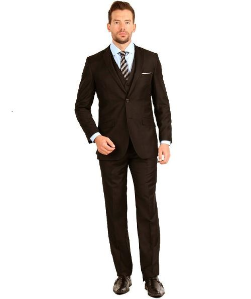 Mens Suit 2 Button 3 Piece Slim Fit by Tazio in Anchorman 2: The Legend Continues