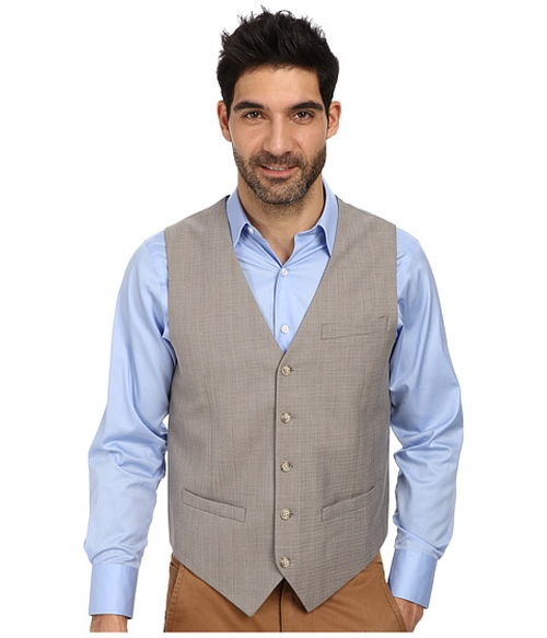 Slim Fit Travel Luxe Stripe Suit Vest by Perry Ellis in The Loft
