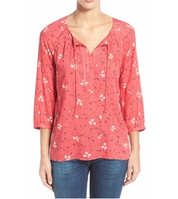 Print Split Neck Peasant Top by Caslon in Lady Dynamite