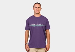 Music City Clear Graphic Tee by Design by Hümans in The Big Bang Theory