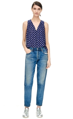 Criss Cross Print Top by Rebecca Taylor in Lady Dynamite