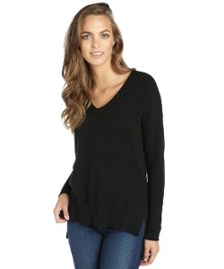 V-Neck Cashmere Sweater by Wyatt in The DUFF