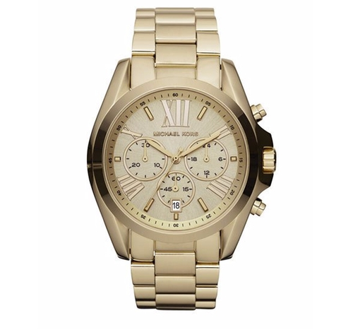 Mid-Size Bradshaw Chronograph Watch by Michael Kors in Bleed for This