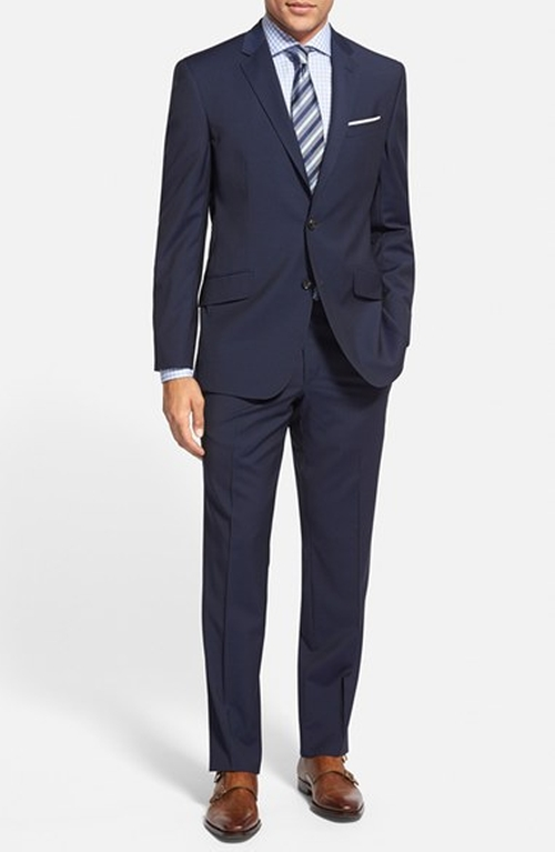 'Jones' Trim Fit Stripe Wool Suit by Ted Baker London in She's Funny That Way