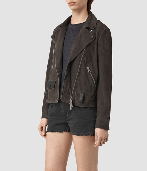Richardson Suede Biker Jacket by AllSaints in How To Get Away With Murder - Season 3 Episode 1