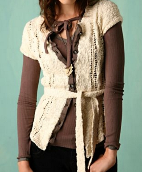 Tie Waist Cardigan by Free People in High School Musical 3: Senior Year