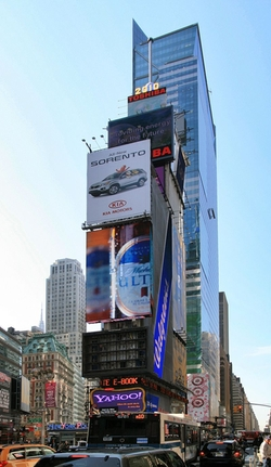 New York City, New York by One Times Square in The Martian