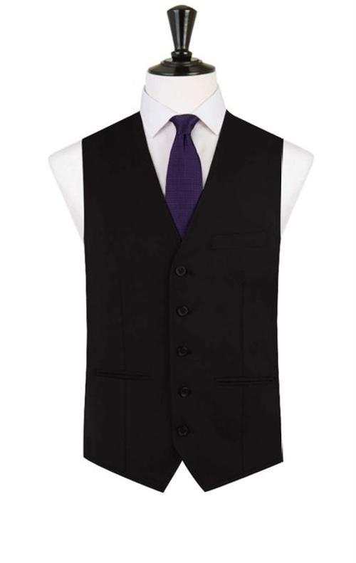 Men's Stylish Fashion Black Suit Waistcoat by Alexander Dobell in Lee Daniels' The Butler