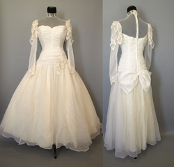 Vintage 80's Victorian Wedding Gown by Etsy in Scarface
