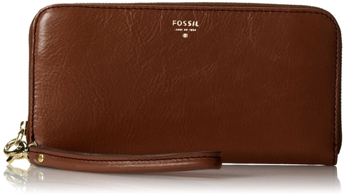 Sydney Zip Clutch Wallet by Fossil in Spy