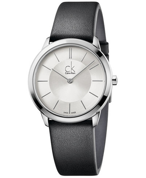 Swiss Minimal Leather Strap Watch by Calvin Klein in Hands of Stone