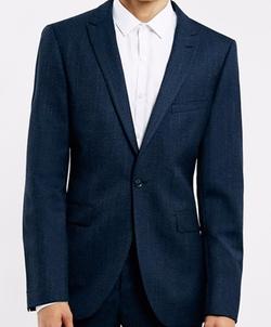 Wool Blend Slim Fit Suit Jacket by Topman in Billions