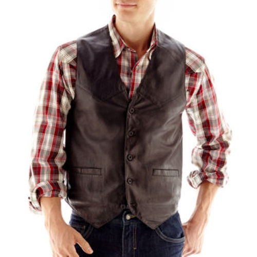 Lambskin Leather Vest by Excelled in Ashby