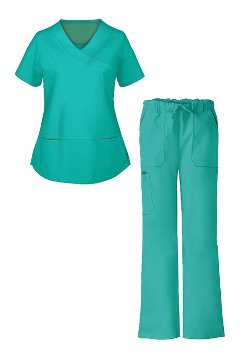 4 Pockets Solid Scrub Suit by G Med in The Best of Me
