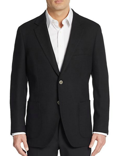 Slim-Fit Textured Wool Sport Coat by Saks Fifth Avenue in The Twilight Saga: Breaking Dawn - Part 2
