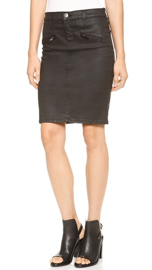 The Soho Coated Stiletto Pencil Skirt by Current/Elliott in Pretty Little Liars - Season 7 Episode 4