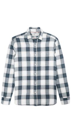 Marine Metro Plaid Sport Shirt by Shipley & Halmos in Project Almanac