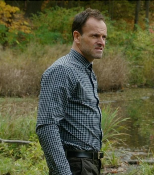Custom Made GIngham Check Button Shirt by Cego in Elementary - Season 4 Episode 11