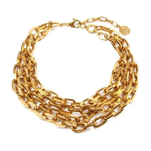 FOILED GOLD CHAIN NECKLACE by ben-amun in Blended