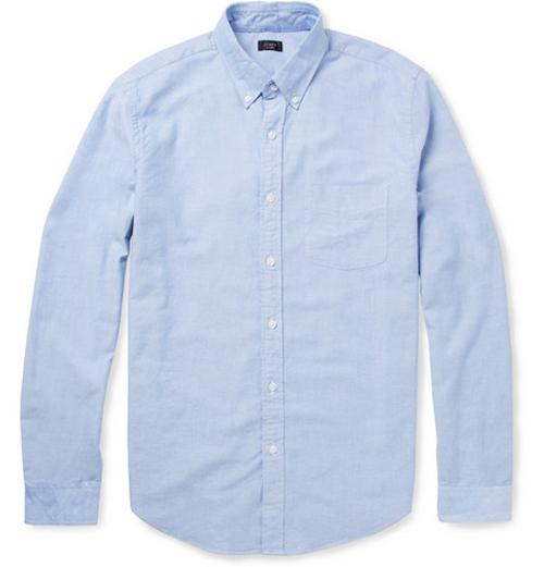 Button-Down Collar Cotton Oxford Shirt by J. Crew in And So It Goes