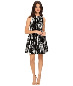 Flocked Fit & Flare Dress by Calvin Klein in Supergirl