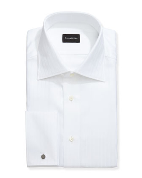 Wide-Stripe French-Cuff Dress Shirt by Ermenegildo Zegna in Furious 7