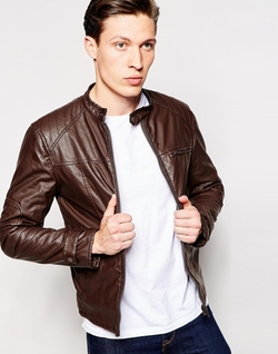 Barney's Leather Look Biker Jacket by Asos in Jessica Jones