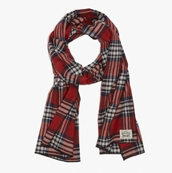Flannel Plaid Scarf by Levi's in Daddy's Home 2