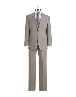 Two Piece Wool Suit by Andrew Marc in Black Mass