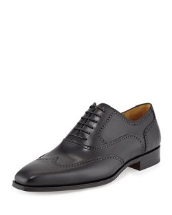 Wingtip Leather Lace-Up Shoe by Magnanni for Neiman Marcus in Shutter Island