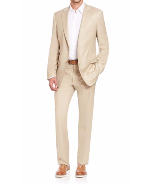 Basic Wool-Blend Suit by Saks Fifth Avenue Collection in Gold