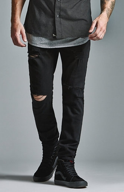 Ripped Skinny Jeans by Bullhead Denim Co. in Chi-Raq