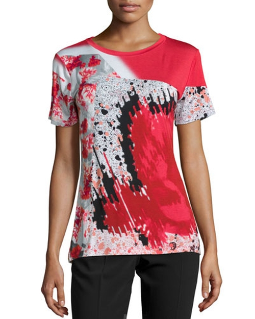 Short-Sleeve Abstract-Print T-Shirt by Prabal Gurung in Empire - Season 2 Episode 6