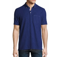 Slub Jersey Pocket Polo Shirt by The Good Man Brand in Flaked