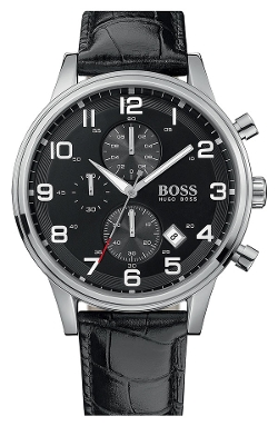 Leather Strap Chronograph Watch by Boss Hugo Boss in Entourage
